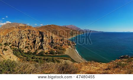Preveli Beach in Crete (Greece, Europe)