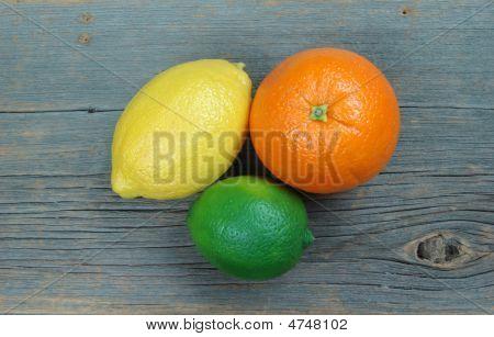 Lemon, Orange & Lime