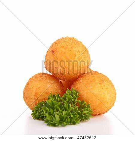 isolated dauphine potato