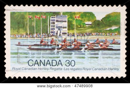 CANADA - CIRCA 1982: stamp printed by Canada, shows Royal Canadian Henley Regatta, circa 1982