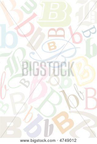 Typo B Pastell