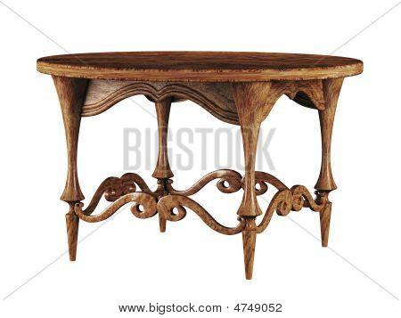 Round Antique Table 3D