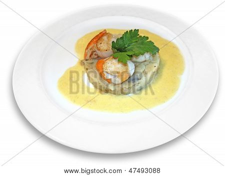 Scallops In Sauce