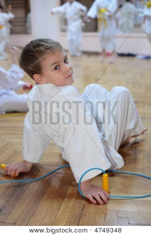 Boy In Sports Hall