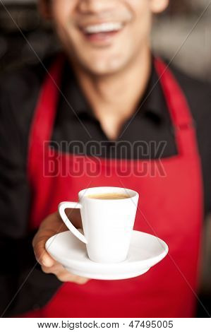 Freshly Brewed Coffee Served With A Smile