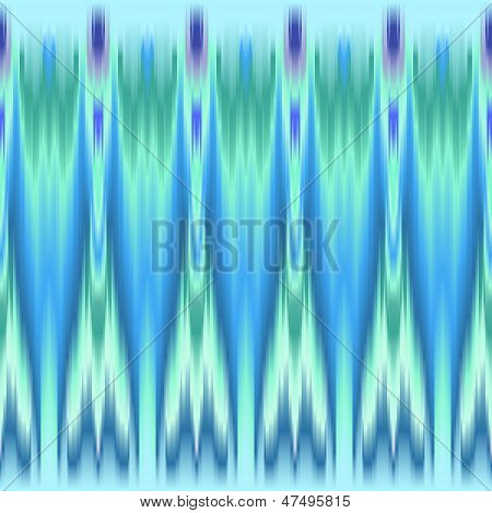Blue and green colorful ethnic seamless pattern, vector