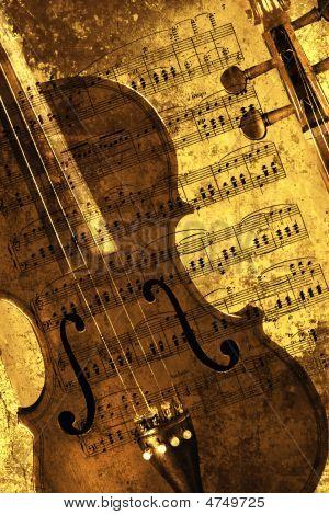 Sepia Violin