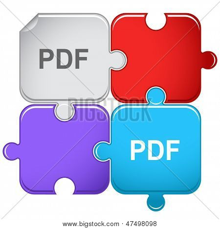 Pdf. Raster puzzle. Vector version is in portfolio.