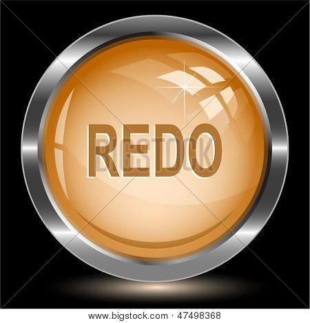 Redo. Internet button. Raster illustration.