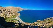 Panorama Of Preveli Beach, Crete