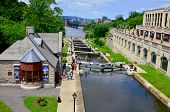 The Rideau canal locks