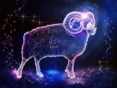 stock photo of zodiac  - Aries is a fire sign zodiac - JPG