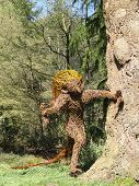 stock photo of hobgoblin  - Wicker goblin landscape photographed at Knightshayes Court in Bolham in Devon - JPG