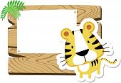 baby tiger blank sign board