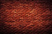 stock photo of solid  - Old grunge brick wall background - JPG