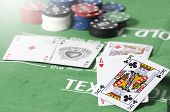 Aces More King With Gambling Chip
