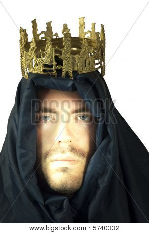 Portrait of king with veil