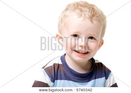 Boy Toddler Isolated On White