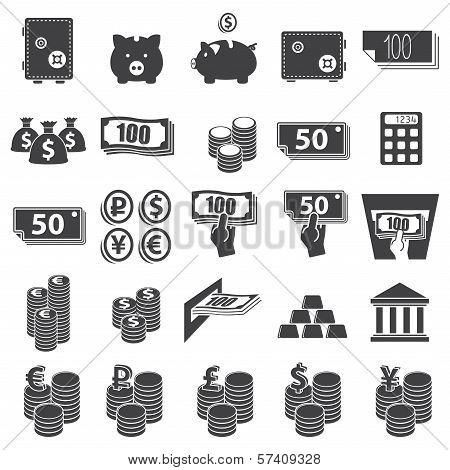 Money set icon