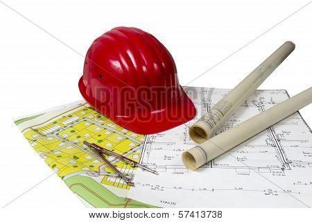 Construction Plans And Helmet