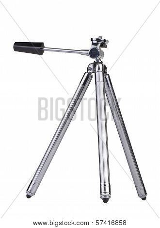 Vintage Little Photo Tripod Isolated On White Background