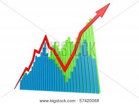 Blue green growing graphs