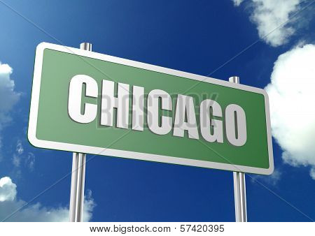 Chicago road sign