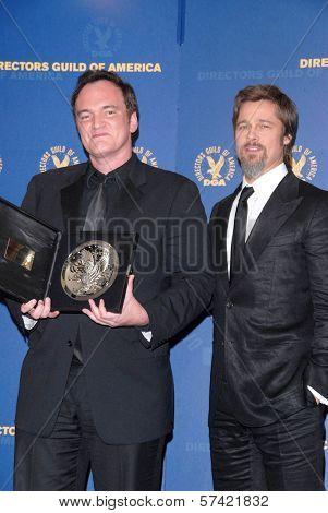 Quentin Tarantino and Brad Pitt at the 62nd Annual DGA Awards - Press Room, Hyatt Regency Century Plaza Hotel, Century City, CA. 01-30-10