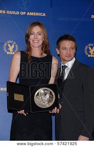Kathryn Bigelow and Jeremy Renner  at the 62nd Annual DGA Awards - Press Room, Hyatt Regency Century Plaza Hotel, Century City, CA. 01-30-10