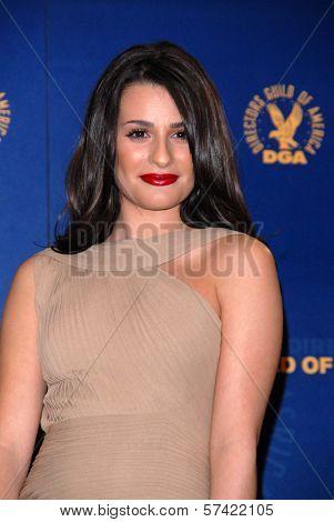 Lea Michele at the 62nd Annual DGA Awards - Press Room, Hyatt Regency Century Plaza Hotel, Century City, CA. 01-30-10