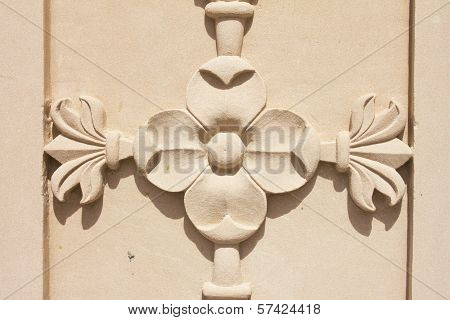 Flower Structure On Stone In Jain Temple