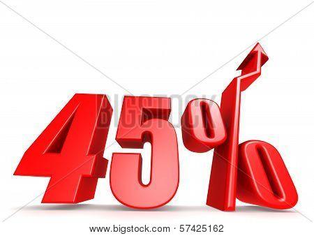 Up 45 percent