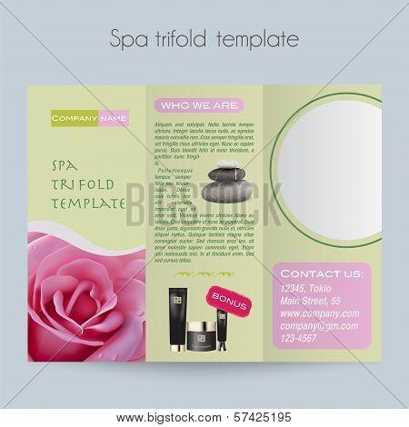 Tri-fold&Spa Brochure&Mock Up