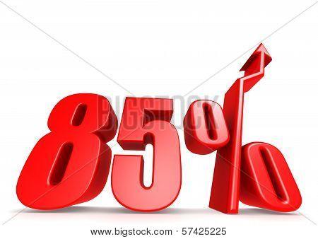Up 85 percent