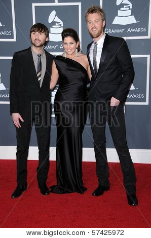 Lady Antebellum at the 52nd Annual Grammy Awards - Arrivals, Staples Center, Los Angeles, CA. 01-31-10