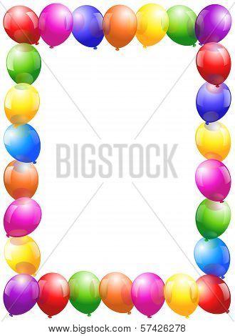 Balloons Frame - portrait format