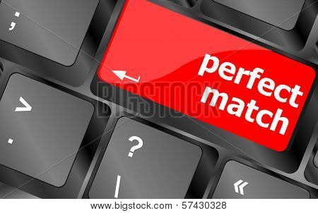 Perfect Match, Keyboard With Computer Key Button