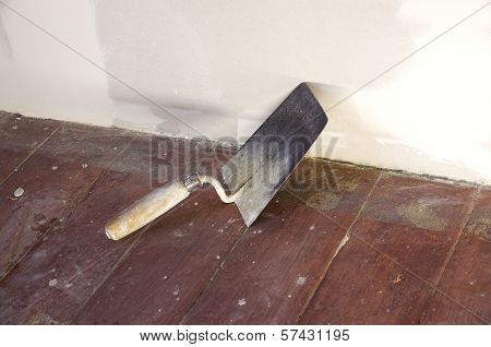 Construction Worker Brick Trowel