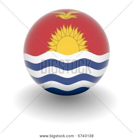 High Resolution Ball With Flag Of Kiribati