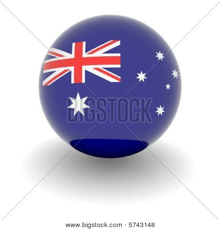 High Resolution Ball With Flag Of Australia