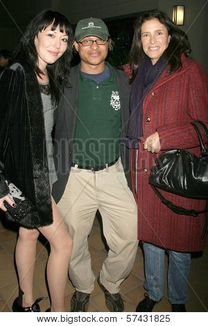 Alyssa Lobit, Clinton H. Wallace and Mimi Rogers at the