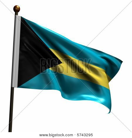 High Resolution Flag Of Bahamas