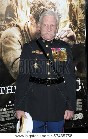 Capt. Dale Dye at  'The Pacific' Mini Series screening, Chinese Theater, Hollywood, CA. 02-24-10