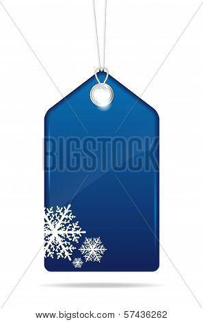 Blue Christmas Price Tag