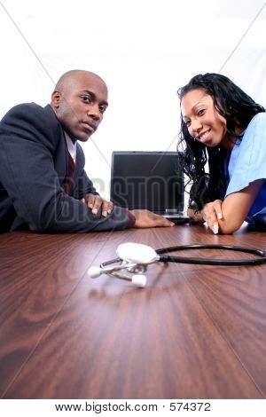 African Amrican Doctor And Nurse