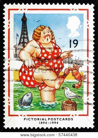 Postage Stamp Gb 1994 Bather At Blackpool