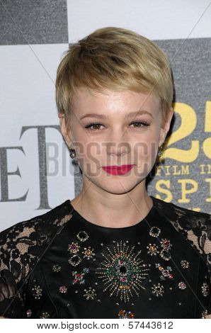 Carey Mulligan  at the 25th Film Independent Spirit Awards, Nokia Theatre L.A. Live, Los Angeles, CA. 03-06-10