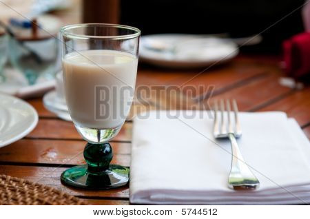 A Glass Of Milk For Breakfast