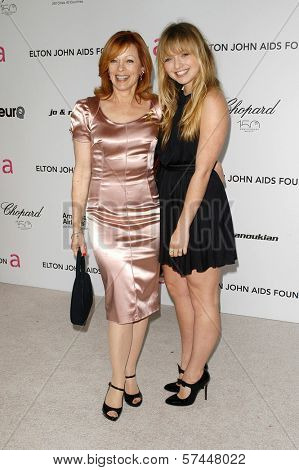 Frances Fisher and Francesca Fisher-Eastwood at the 18th Annual Elton John AIDS Foundation Oscar Viewing Party, Pacific Design Center, West Hollywood, CA. 03-07-10