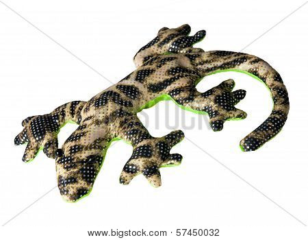 salamander toy isolated on white